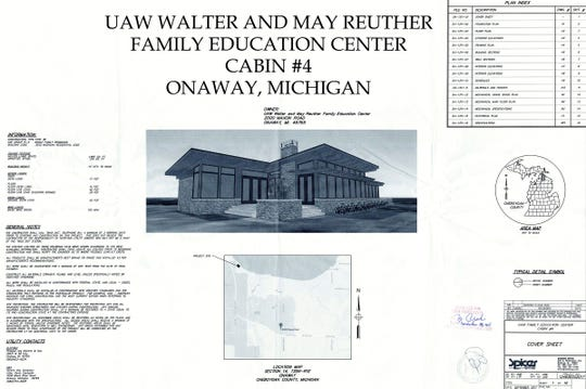 Plans on file in Cheboygan County show the cottage being built for former UAW President Dennis Williams.Cheboygan County Department of Building Safety