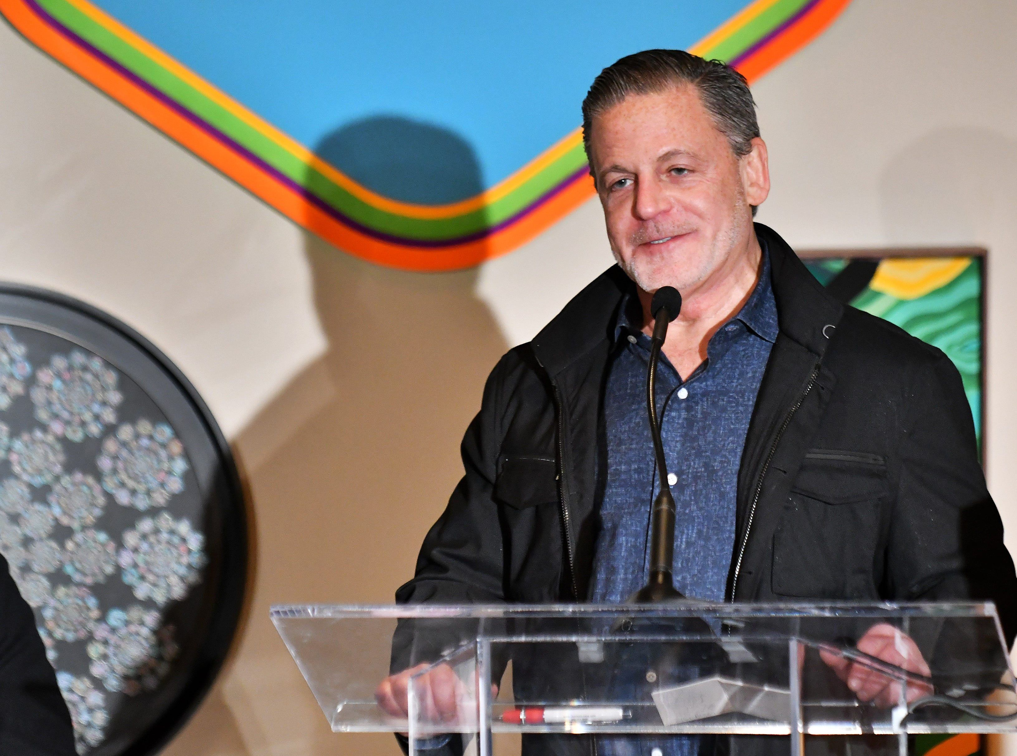 Dan Gilbert, founder of Quicken Loans and Rock Ventures, speaks at the press conference celebrating the opening of  the Shinola Hotel in Detroit on Dec. 18, 2018.