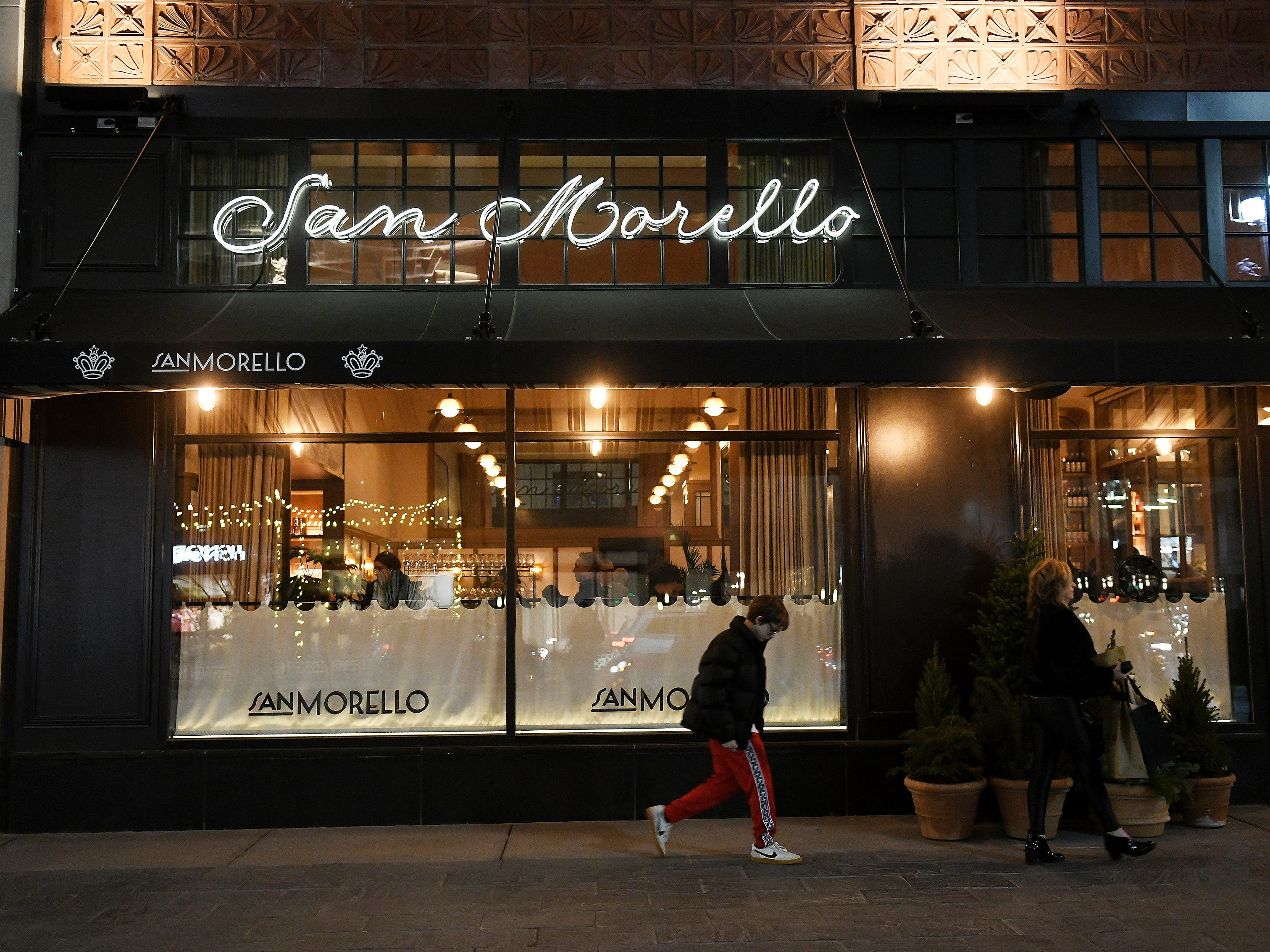 The Shinola Hotel is home to a restaurant, San Morello, with chef Andrew Carmellini.
