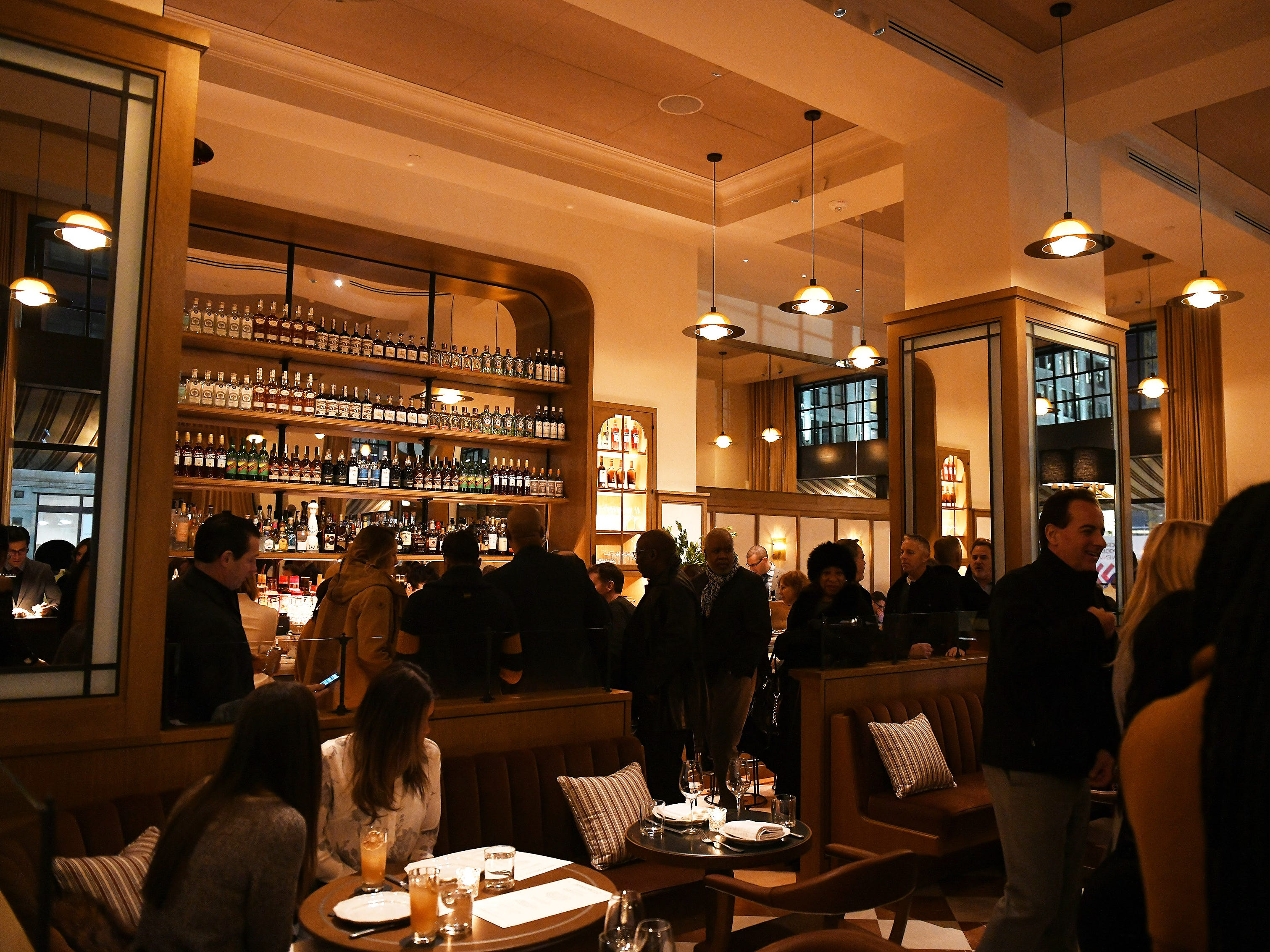 Patrons pack the grand opening of San Morello located inside the Shinola Hotel.
