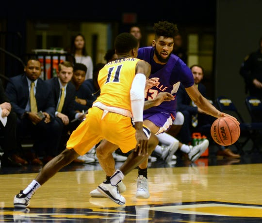Evansville junior guard K.J. Riley posted the first double-double of his Aces' career Tuesday in a 66-64 loss at Murray State. He finished with 13 points and 11 rebounds.