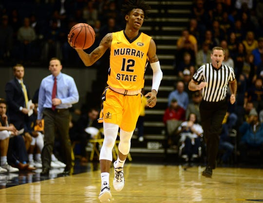 Murray State sophomore point guard Ja Morant posted 27 points, eight rebounds and 10 assists Tuesday night in a 66-64 win over Evansville.
