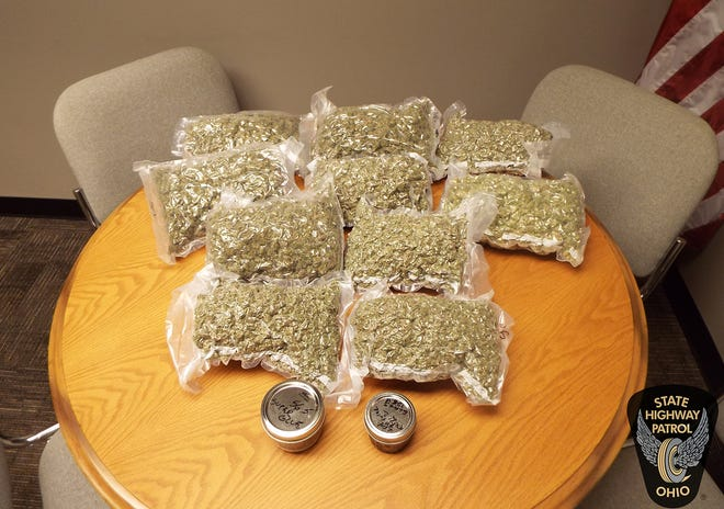 Troopers seized this marijuana and THC shatter/wax after a traffic stop on the Ohio Turnpike in December. The Fremont post of the Ohio Highway Patrol reported a jump in drug-related arrests in 2018 compared to 2017.