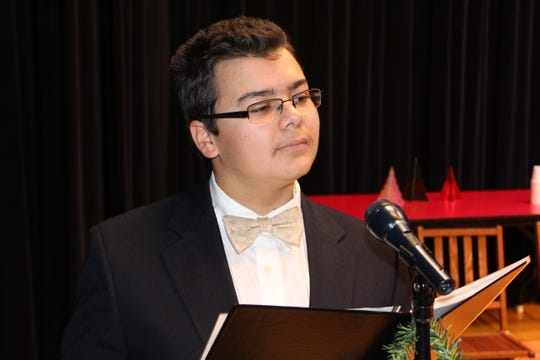 """Aiden Steinmetz, a freshman at St. Joseph Central Catholic High School, will perform in the school's winter play """"It's A Wonderful Life: A Live Radio Play"""" Saturday at 2 and 6 p.m."""