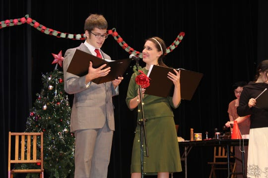 """St. Joseph Central Catholic High School students Dalton Ewing and Maddie Molyet will perform as cast members in the school's winter play """"It's A Wonderful Life: A Live Radio Play"""" Saturday  at 2 and 6 p.m."""