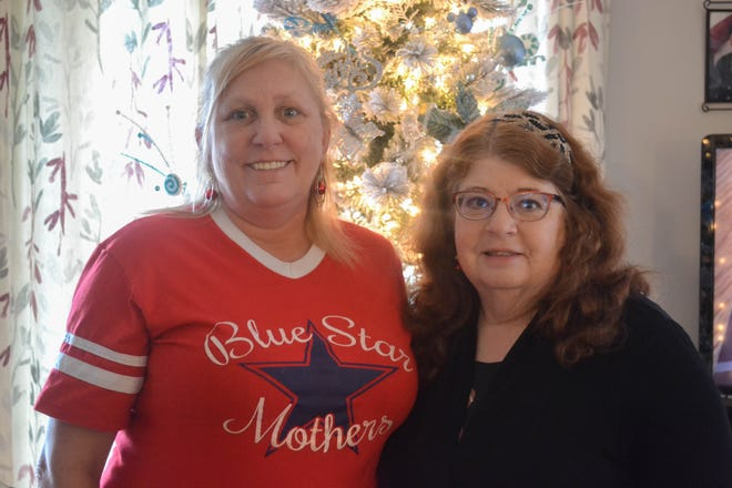 Barb Cook, left, and Elaine Brock helped found the Lake Erie Shores chapter of Blue Star Mothers which provides emotional and practical support to military personnel and their families.