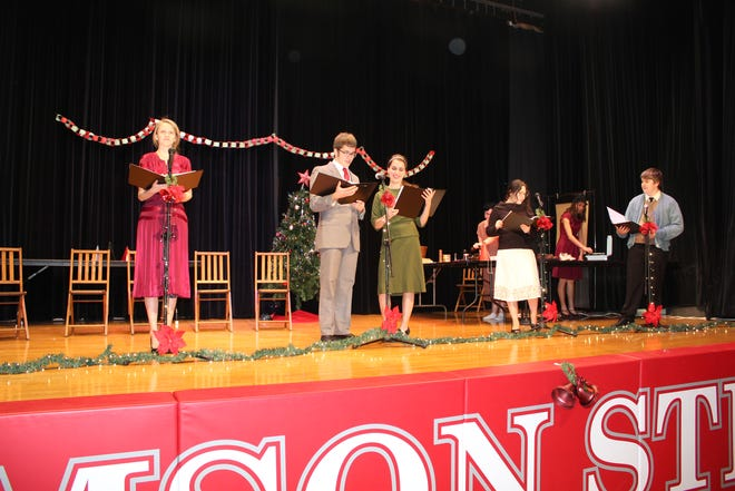 "St. Joseph Central Catholic High School's theater program will perform ""It's A Wonderful Life: A Live Radio Play"" Saturday at 2 and 6 p.m. in the school's gymnasium."