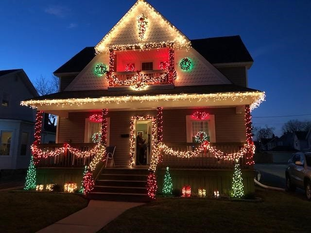 This home at 616 Franklin Avenue received third place in the annual Christmas Lawn Decorating Contest in Fremont.