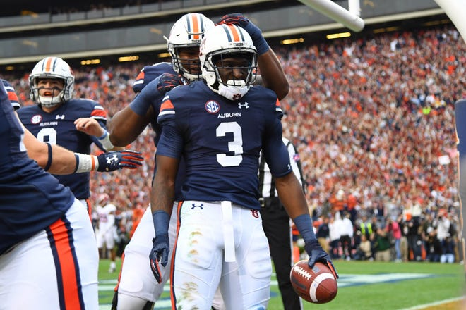 Former Auburn Tigers wide receiver Nate Craig-Myers (3) has transferred to CSU. Craig-Myers was ranked as the No. 6 player in Florida and No. 6 receiver in the nation out of high school.