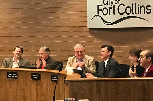 Fort Collins City Council applauds outgoing member Bob Overbeck