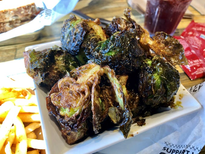 Crispy maple Brussels sprouts from The American Grilled Cheese Kitchen in south Fort Myers.