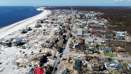 02hurricane Michael Mexico Beach Aerial