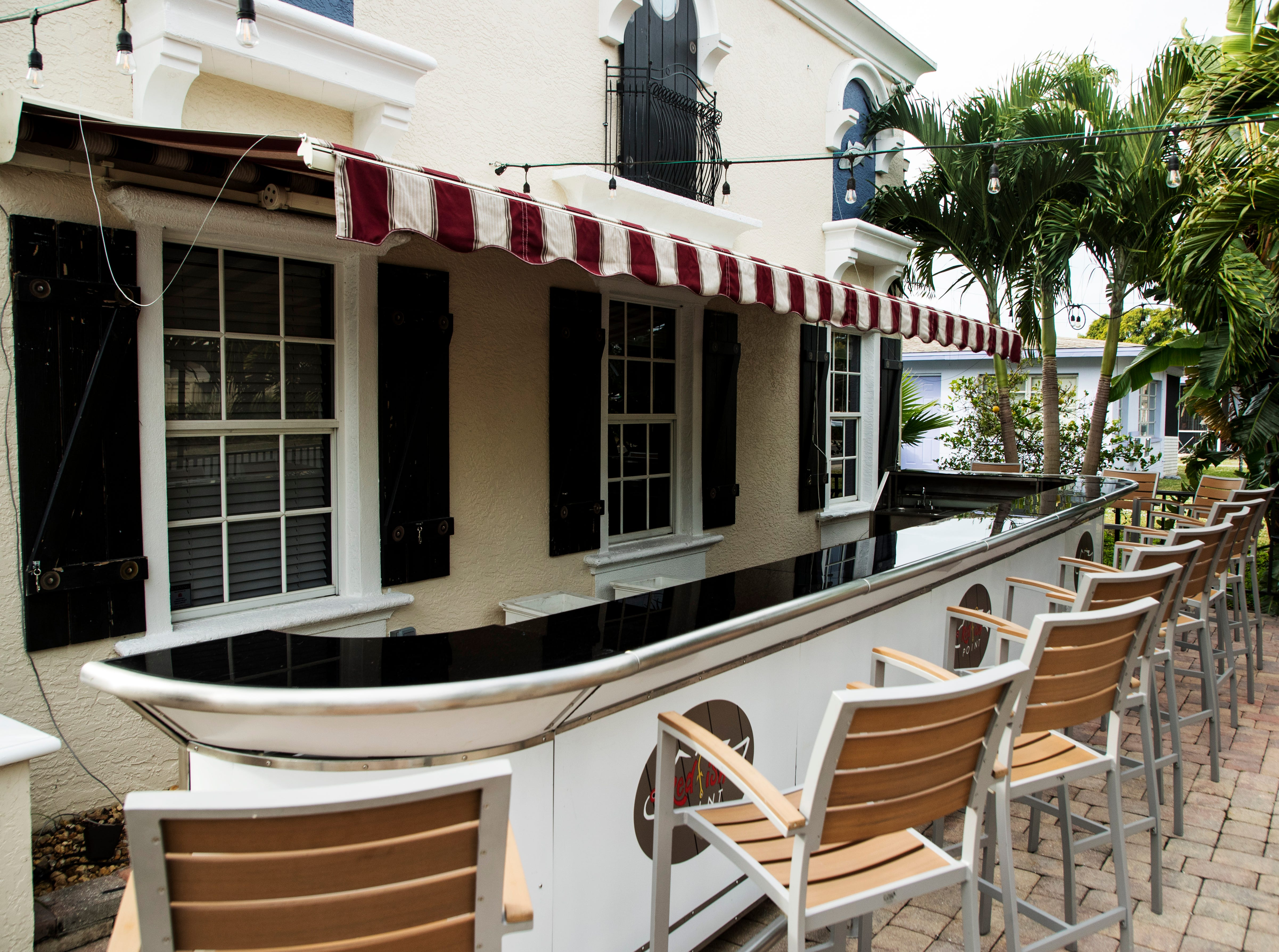 The outdoor bar area of Redfish Point in Cape Coral.