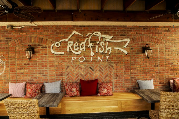 The outdoor dining area at Red Fish Point in Cape Coral.
