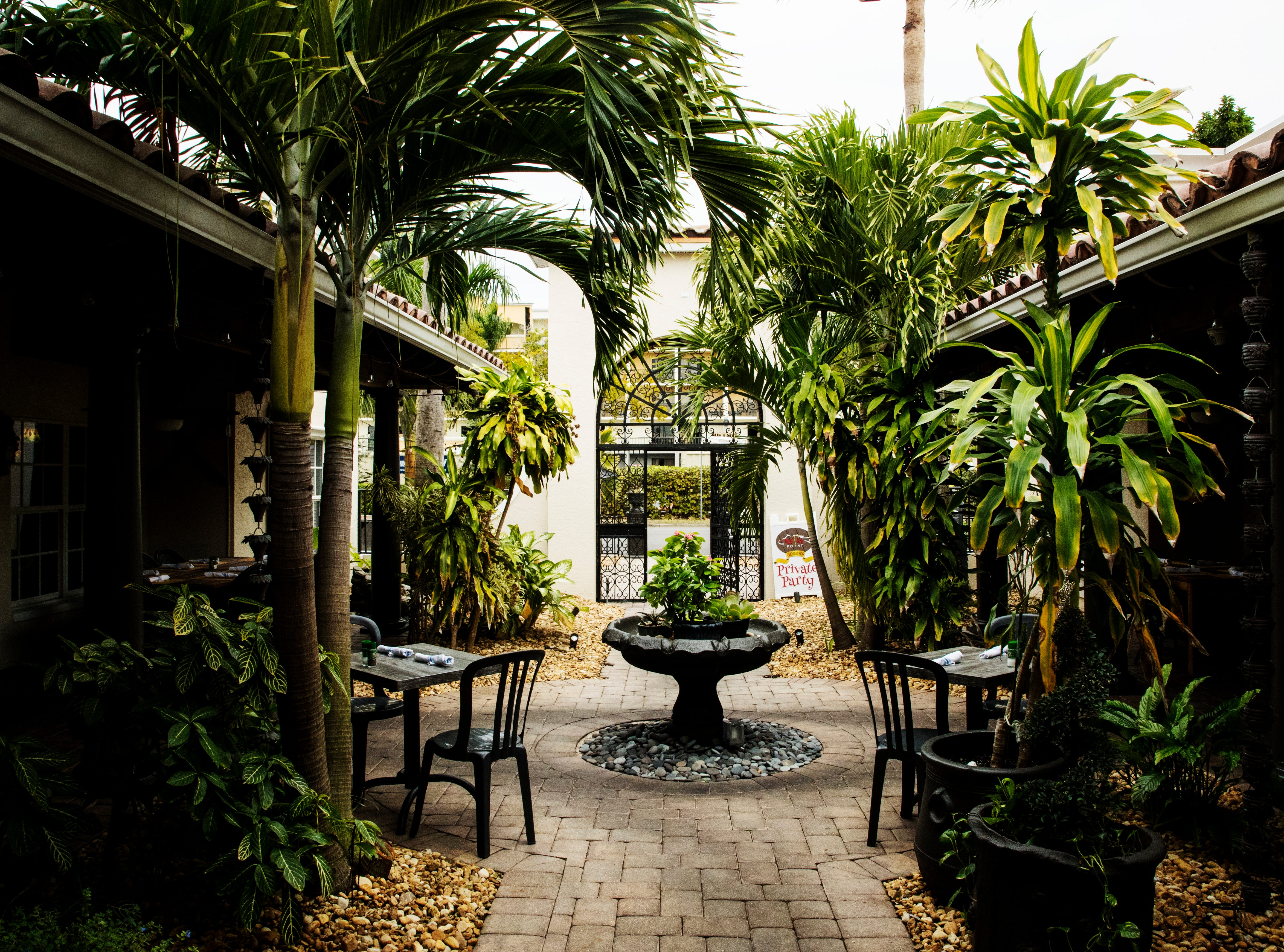 A garden area of Red Fish Point in Cape Coral.