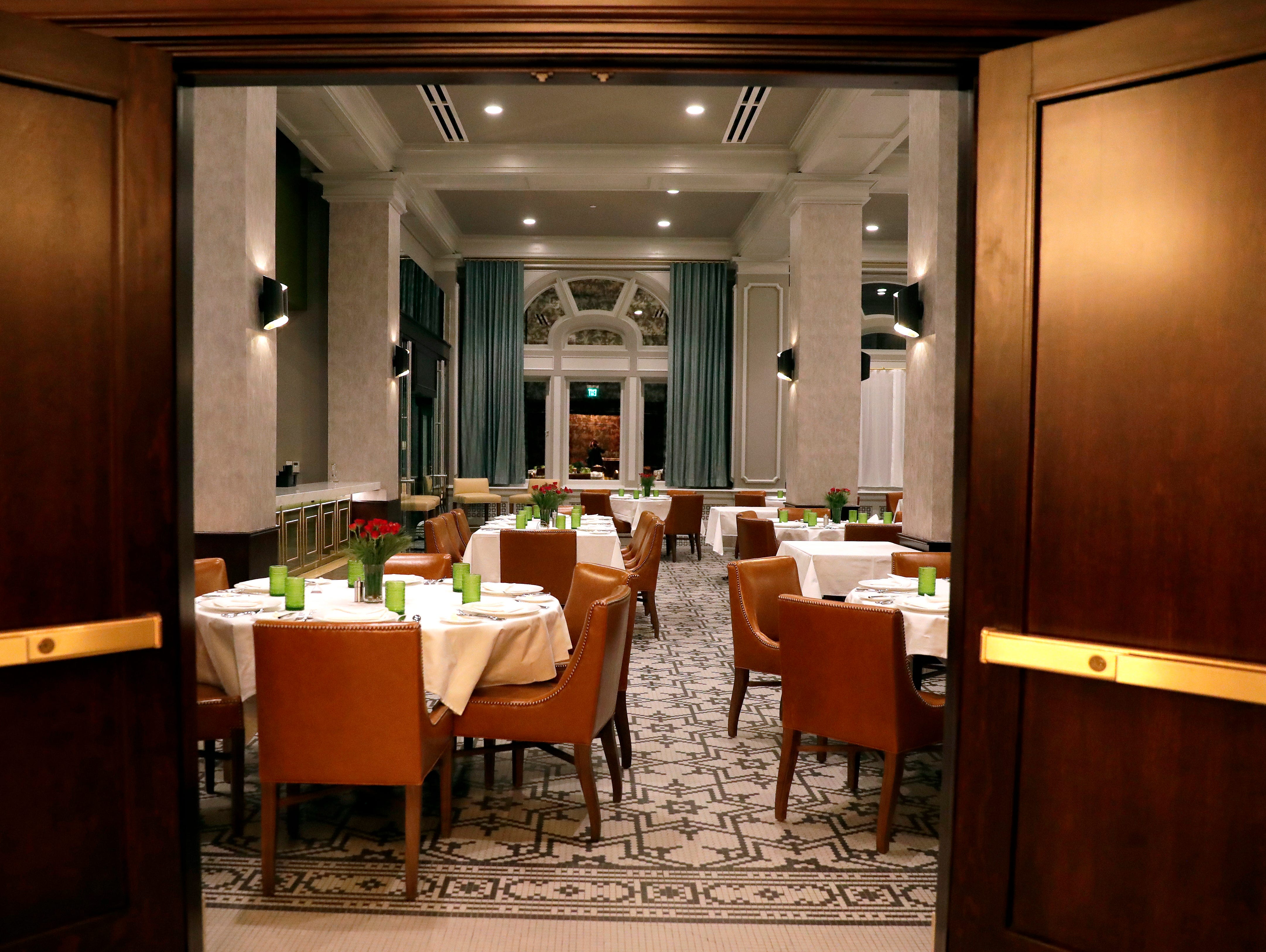 The Walnut Room restaurant at Hotel Northland in Green Bay, Wis.