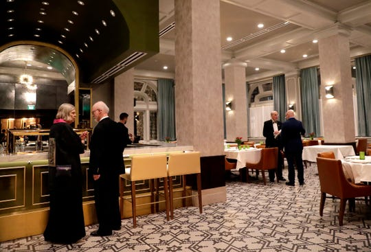 The Green Bay West Rotary Club held the first event in the Walnut Room restaurant of Hotel Northland on Dec. 18, 2018 in Green Bay, Wis.