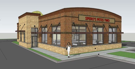 A rendering of how Spero's Pete's Too restaurant would look if rebuilt on flood-prone property.