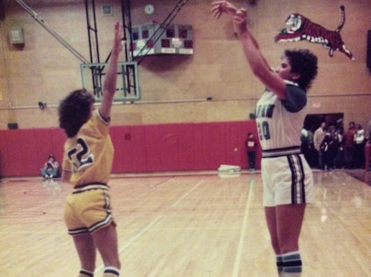 Katy (Kloppel) Deffe was an excellent long-range shooter at Great Falls High from 1980-83. She later went to Houston University on a basketball scholarship.
