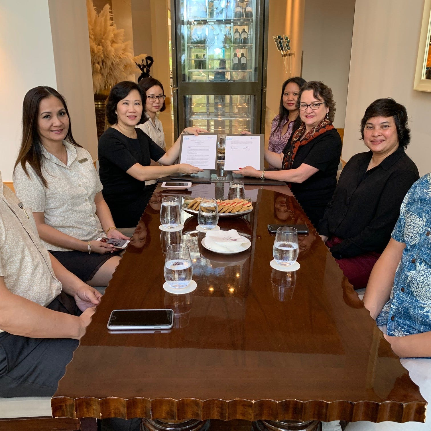 GCC and Hyatt Regency Guam strengthen ties for student training