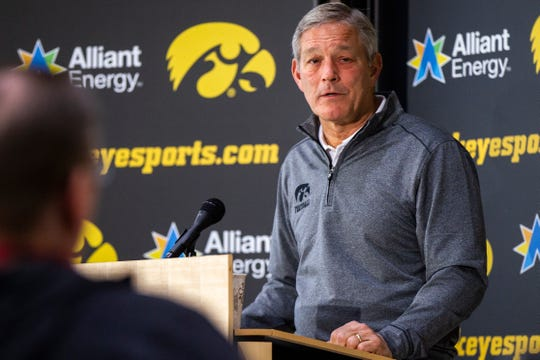 Kirk Ferentz, shown at a pre-Outback Bowl press conference, wants to find the next Josh Jackson in his program: Somebody who has untapped potential and ready to emerge.