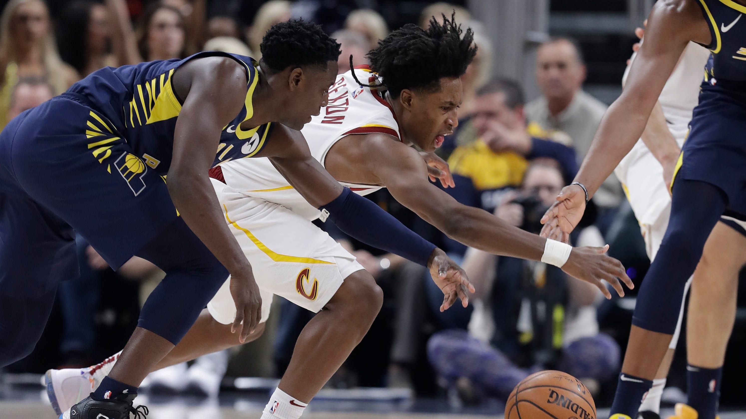 302222be0 Pacers  win streak comes to halt vs. Cavaliers