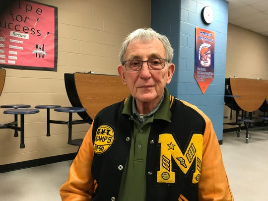 Stewart Hammel and his 1960 Morocco letter jacket.