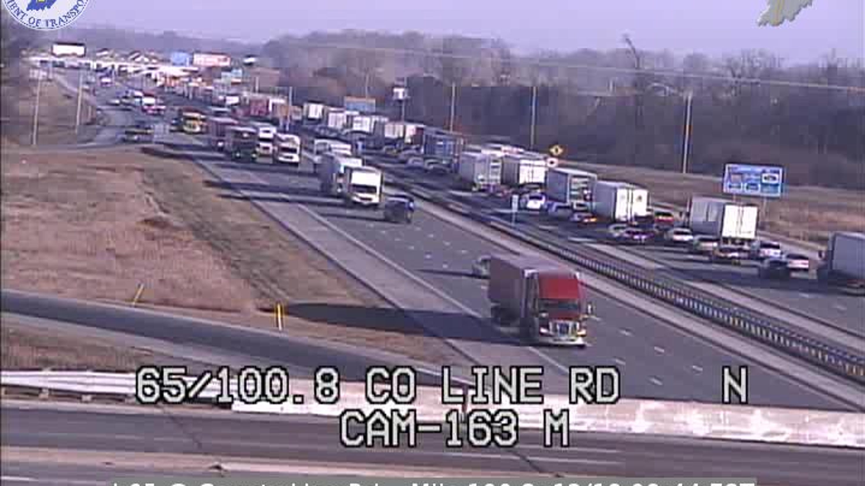1 dead in I-65 crash, traffic jammed in south-side