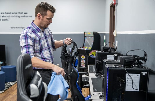 Tipton High School State Of The Art Esports Facility With 12 Gaming Stations And Virtual Reality Headsets Designed By Teacher John Robertson In Indiana
