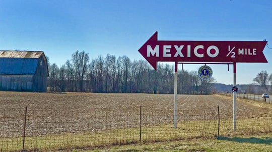 Mexico, in Miami County, was platted in 1834.