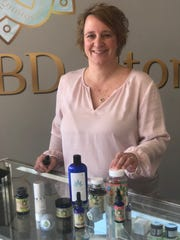 Becky Ramker, owner of the local CBD hemp oil store, Your CBD Store, scheduled to open officially in January 2019.