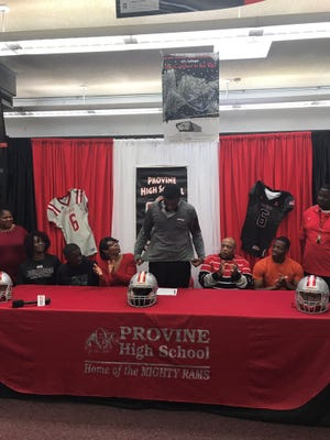 Provine High School defensive end De'Monte Russell signed with Mississippi State.