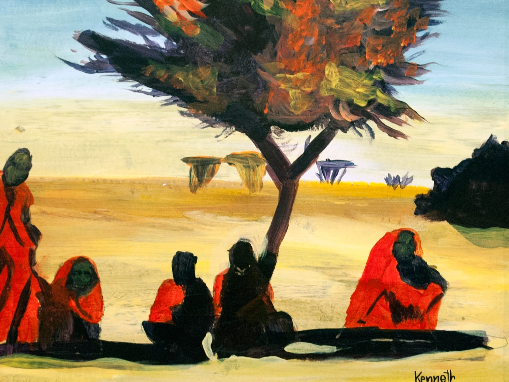Bedouin Beauty by Kenneth Gytton is part of the VSA Community-sponsored Art Group exhibit showing at the Arts Center of Mississippi in downtown Jackson through Jan. 10, 2019. Tuesday, Dec. 18, 2018.