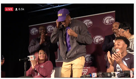 Raydarious Jones has committed to Louisiana State University.