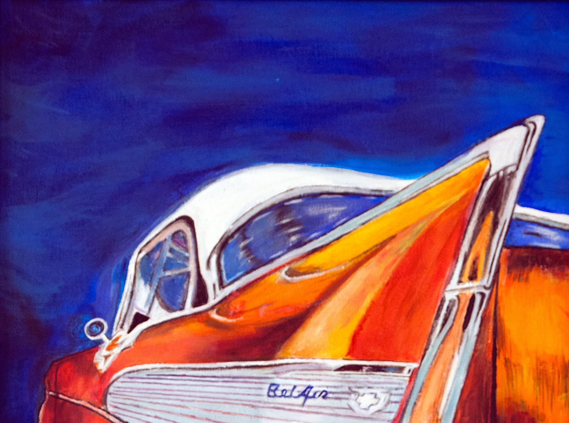 Chevy Fin by Demetrius Williams is part of the VSA Mississippi-sponsored Community Art Group exhibit showing at the Arts Center of Mississippi in downtown Jackson through Jan. 10, 2019. Tuesday, Dec. 18, 2018.