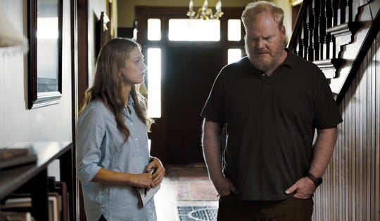 """Marin Ireland and Jim Gaffigan act in a scene from """"Light From Light,"""" an upcoming Knoxville-filmed movie. This scene was shot at Strong Stock Farm."""