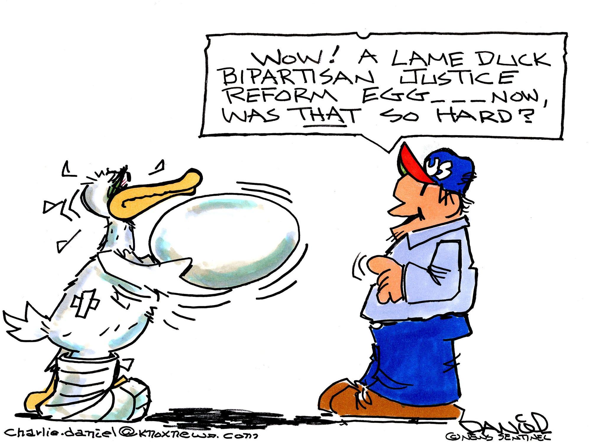 Charlie Daniel editorial cartoon for Dec. 20, 2018.