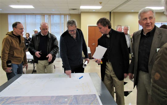 Around 40 residents met with town officials earlier in the year to discuss ideas and concerns for the Watt Road corridor.