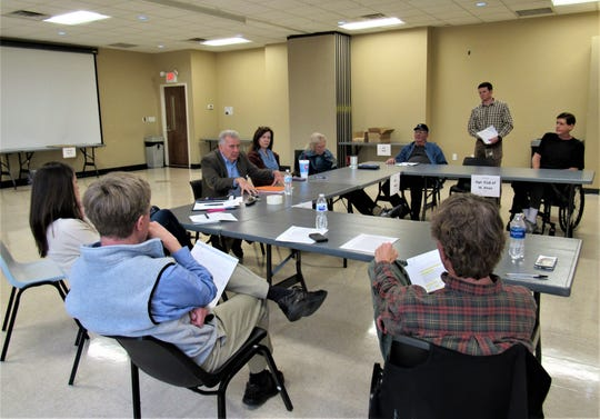 The CLUP steering committee, led by Mark Shipley, meets informally about once a month at Town Hall.