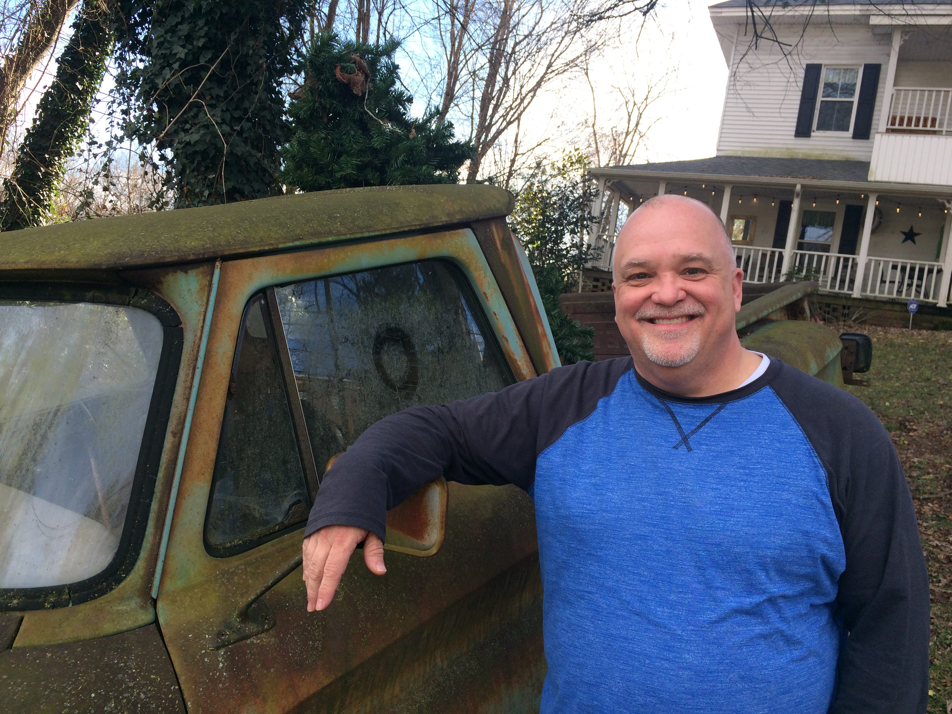 Bart Elkins, owner of The Front Porch, has a rusted ol' pickup truck in front of the restaurant that is part of the ambiance and his pride and joy.