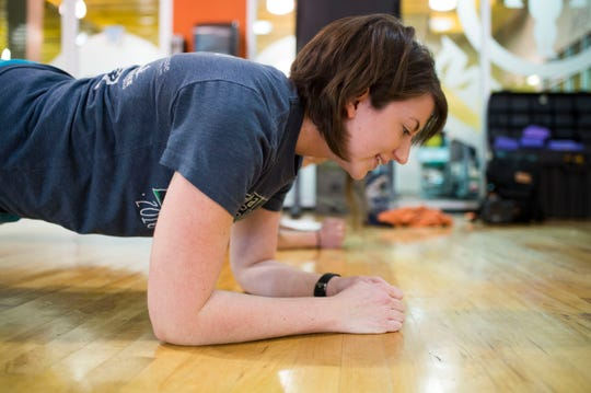 Planks are great for working on core strength.