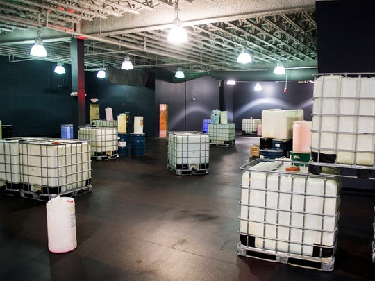 Inside the laser tag arena at Next Level Knoxville located at Knoxville Center Mall.