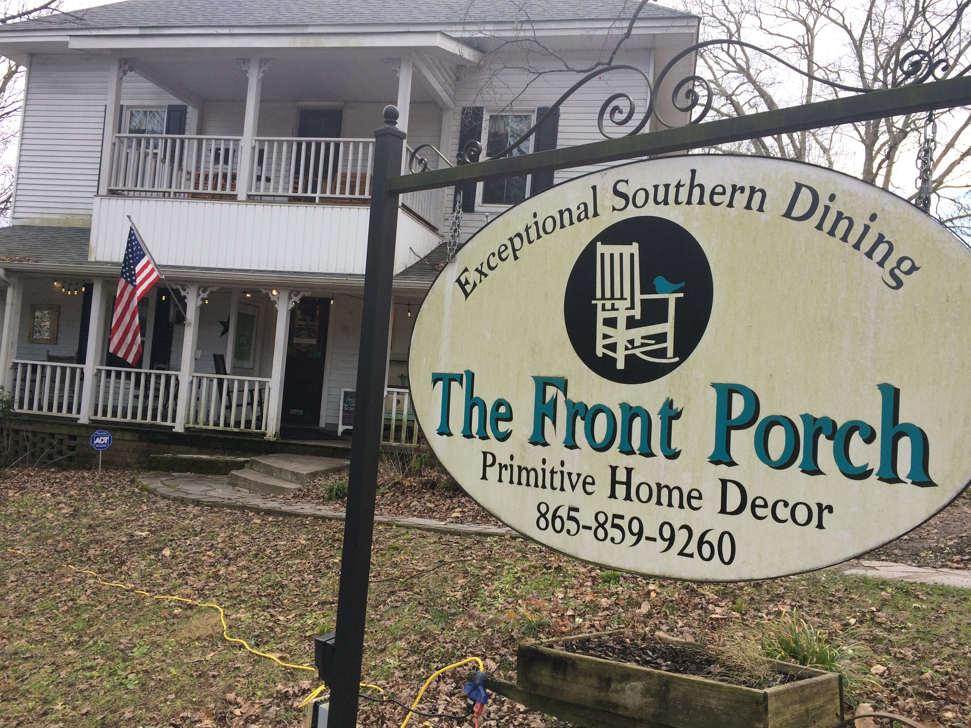 The building at the intersection of Spring Street and Emory Road in Powell has had many uses. Now, it is the home of The Front Porch restaurant and antique gift shop.