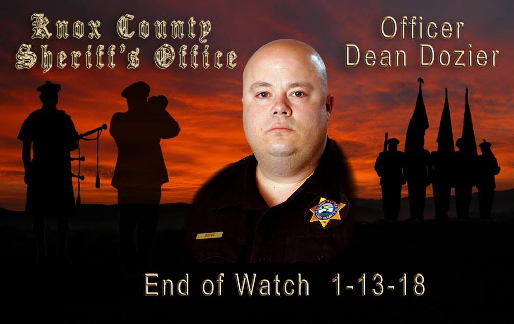 Knox County corrections officer Douglas Dean Dozier was killed, allegedly by his son, on Jan. 13, 2018.
