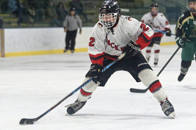 Sebastian Smith scored a goal and dished out four assists for Pinckney in an 8-6 loss to Ann Arbor Huron on Tuesday, Dec. 18, 2018.