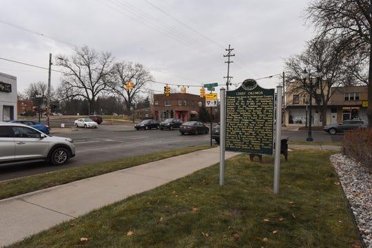 Downtown Okemos near the intersection of Hamilton and Okemos roads.