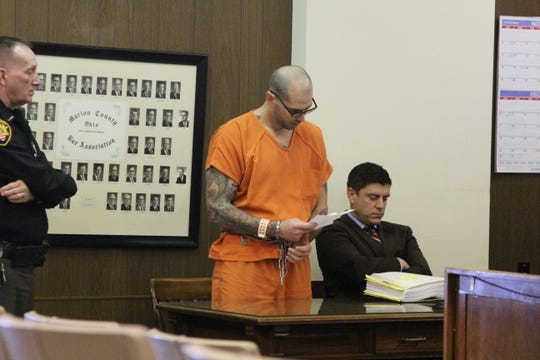 Matthew W. Lust, 33, of Bucyrus, was sentenced to 30 years in prison Wednesday after he shot and injured the mother of his children and then got into a firefight with law enforcement officers in July.