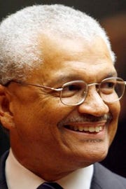 John T. Fowlkes Jr. smiles at his swearing-in as a state Criminal Court judge in 2007. President Obama nominated him to a federal judgeship in 2011 and the U.S. Senate confirmed him in 2012.