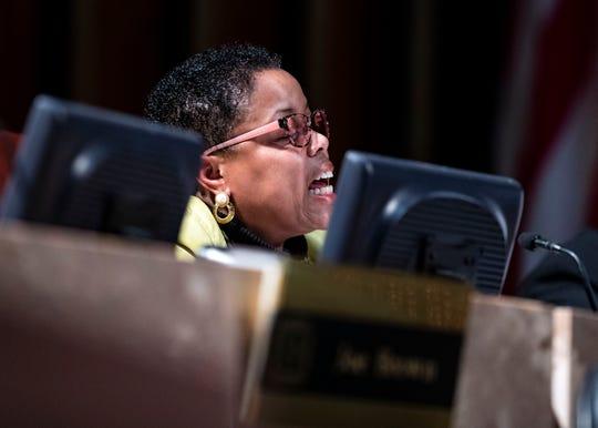 Councilwoman Jamita Swearengen, speaks at  The Memphis City Council, last regular meeting of the year, Tuesday, Dec. 18, 2018