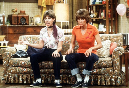 Cindy Williams and Penny Marshall on Laverne & Shirley